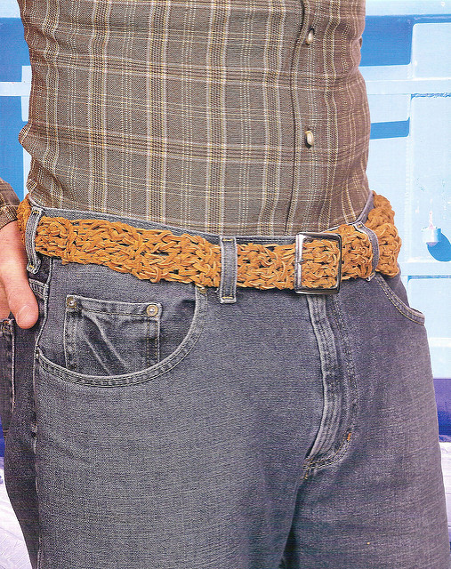 Free crochet pattern: Boy Belt by Drew Emborsky, aka The Crochet Dude