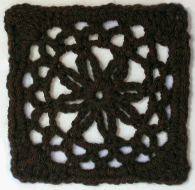 Free crochet afghan square pattern: Diaphanous - The Crochet Dude