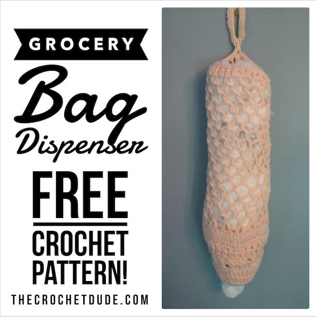 Free Crochet Pattern Grocery Bag Dispenser The Crochet Dude