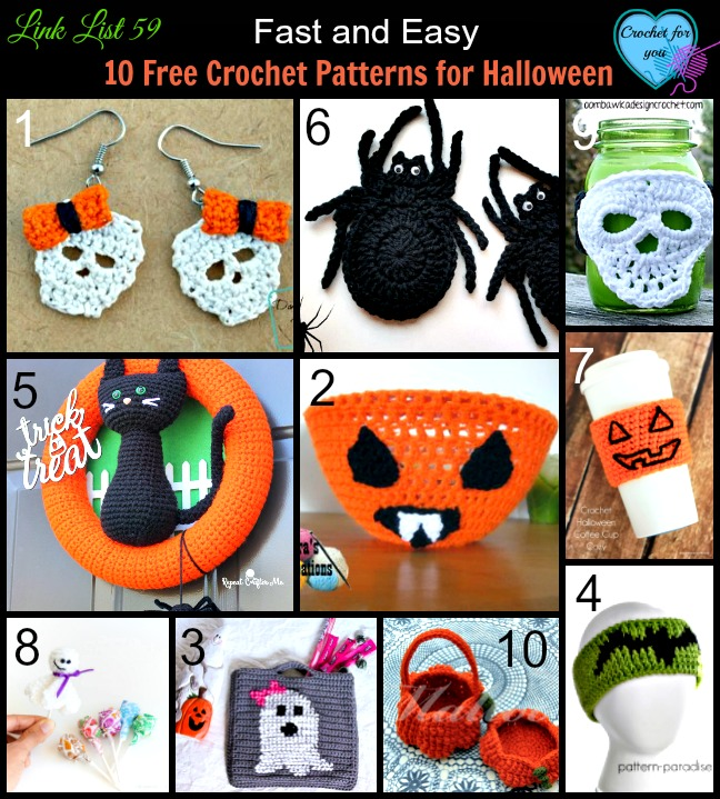 Free Easy Halloween Crochet Patterns : Home Decor ? The Crochet Dude