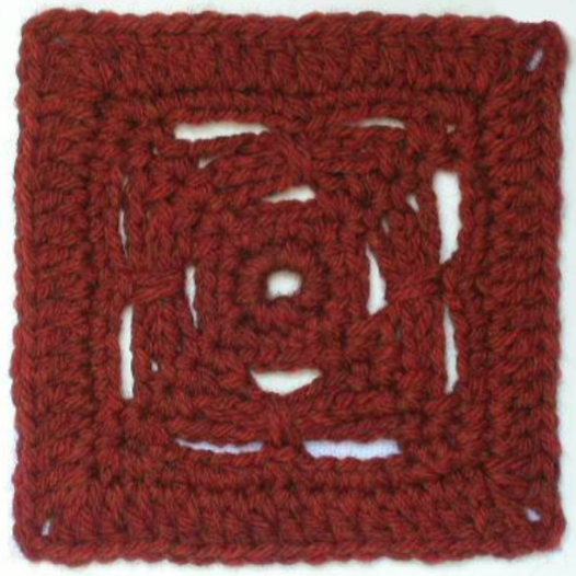 Free crochet afghan square pattern: Raillery - The Crochet Dude