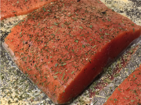 Free recipe: Baked salmon 101 by Drew Emborsky, aka The Crochet Dude