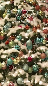 Free Christmas tree phone background from Drew Emborsky, aka The Crochet Dude