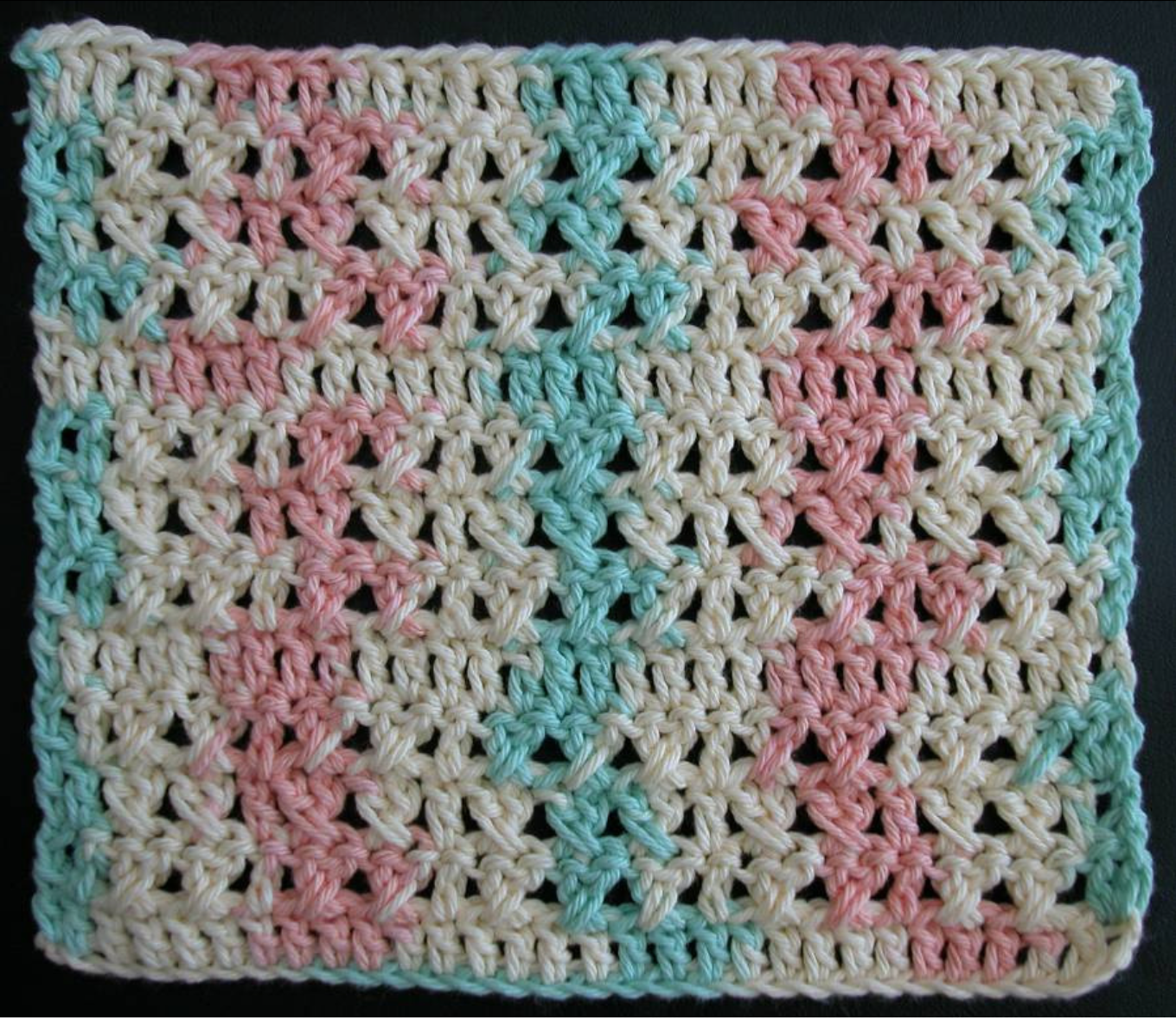 Free crochet dishcloth pattern: Formal Garden by Drew Emborsky aka The Crochet Dude