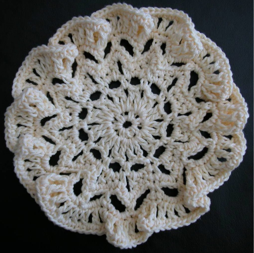 Free crochet dishcloth pattern: Jellyfish by Drew Emborsky, aka The Crochet Dude