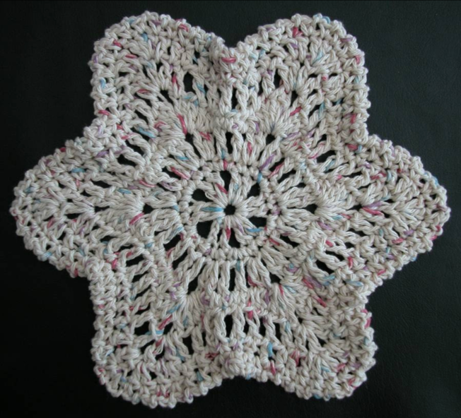 Free crochet dishcloth pattern: Starfish by Drew Emborsky, aka The Crochet Dude