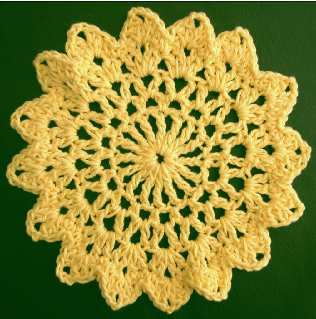 Free crochet dishcloth pattern: Sunflower by Drew Emborsky, aka The Crochet Dude