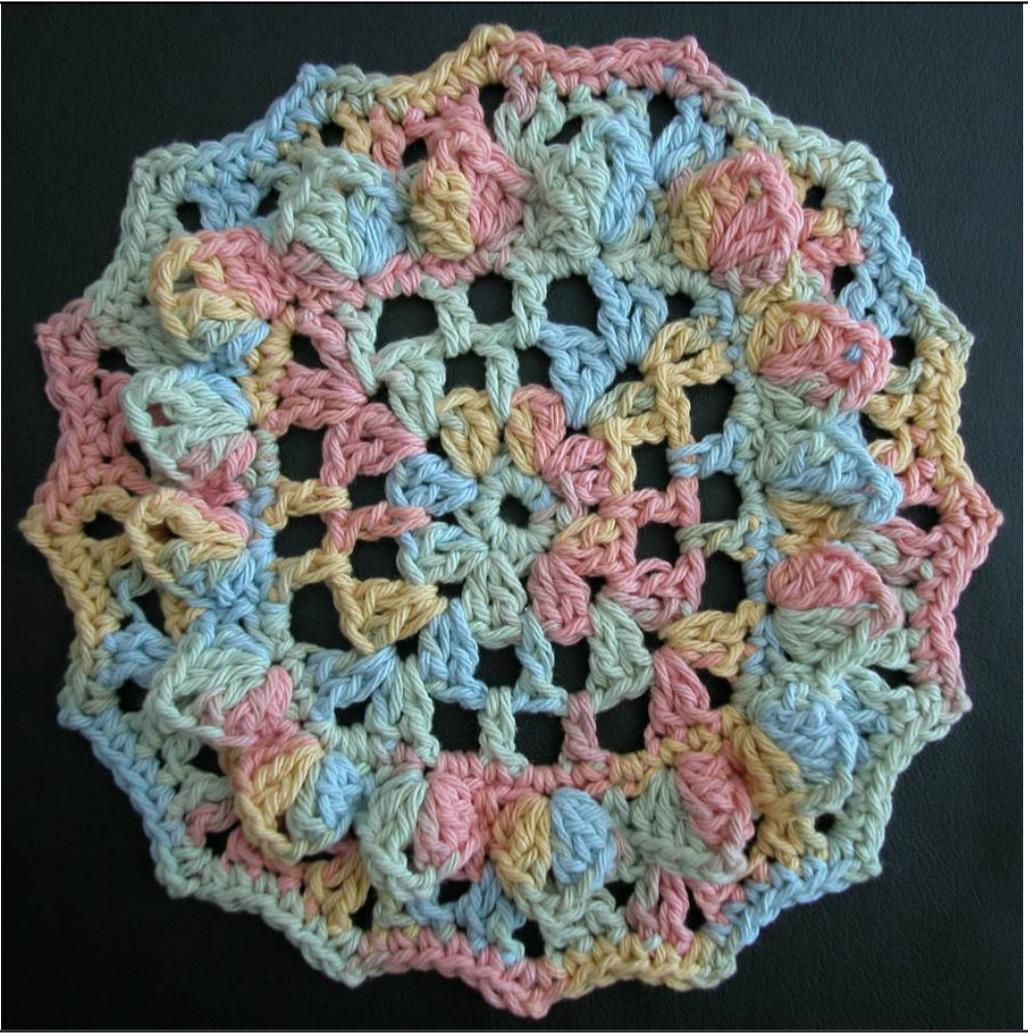 Free crochet dishcloth pattern: Sunshine by Drew Emborsky, aka The Crochet Dude
