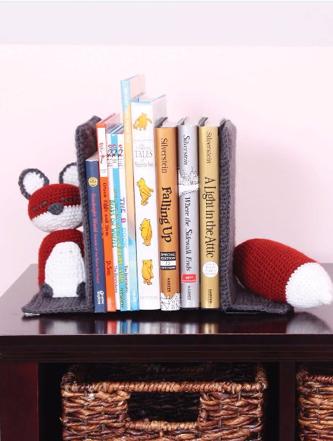 Smart As A Fox bookends by Tamara Kelly of MooglyBlog.com