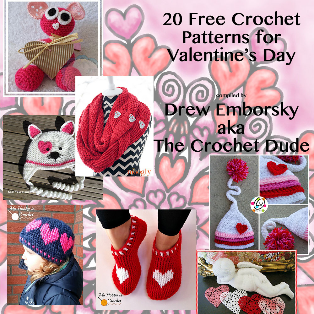 20 Free Crochet Patterns For Valentines Day The Crochet Dude