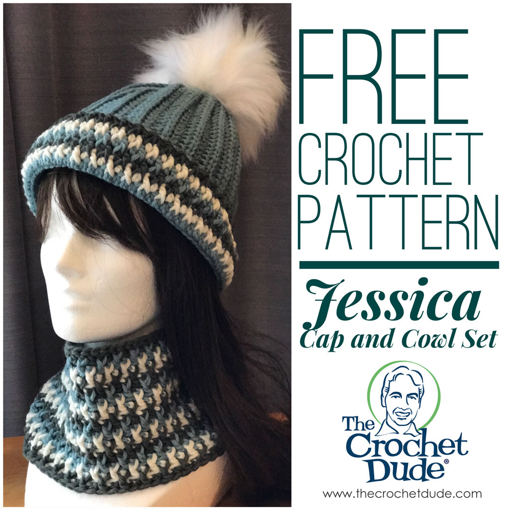 Free crochet hat and cowl patterns: Jessica - The Crochet Dude